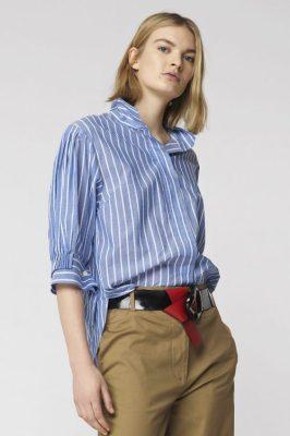 Lyseblåstripet skjorte By Malene Birger - brigonia q64897003