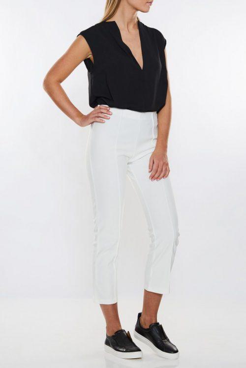 Hvit eller sort cropped bukse By Malene Birger - viggie q2831013