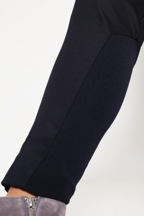 Navy dressbukse med stretchfelt ved ankel Mos Mosh - 112620 blake night pants