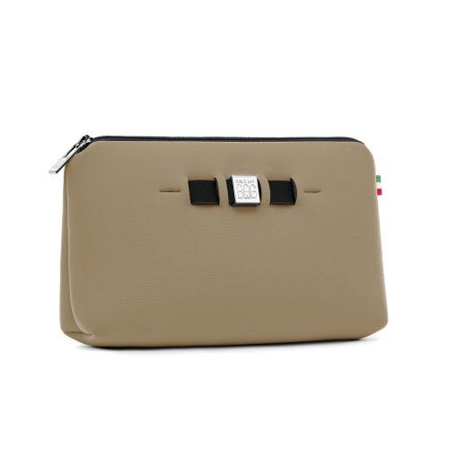 Orange, rød, blå eller beige metallic clutch (sminkepung) i neopren Save My Bag - Medium Travel Pouch