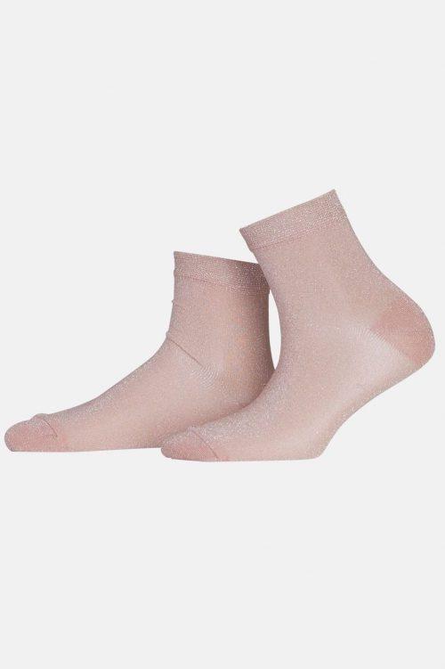 Dus rosa kort glittersokk MP Denmark - 77524/728 ankel pi