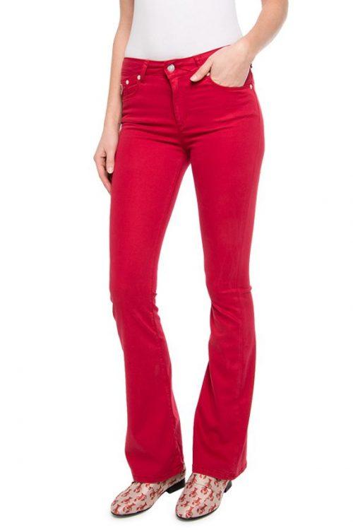 Sort, hvit, navy, rød eller sandfarget 'Raval' supermyk flare bukse Lois Jeans - Raval-16 Lea soft rainbow L32
