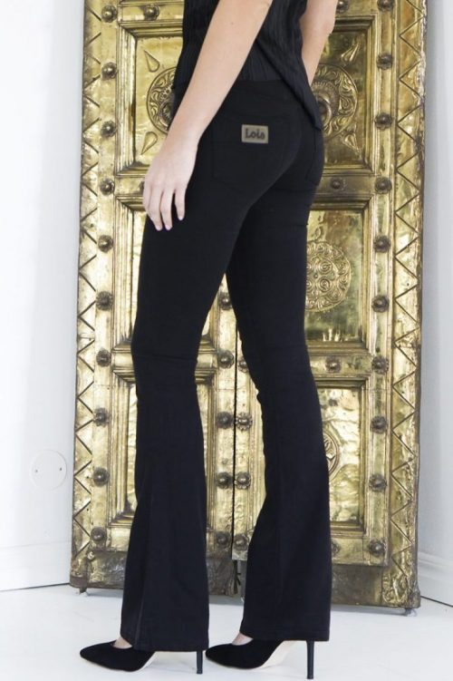 Fløyelsmyk 'Raval' flare bukse Lois. Lengde 32 eller 34 cm.