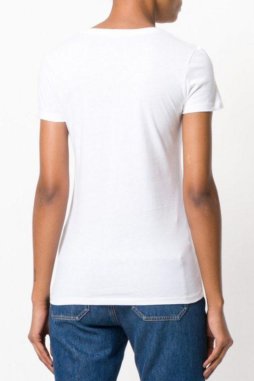 Hvit eller gråmelert bomull t-shirt Majestic Filatures - E181902