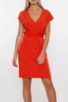 Rød kjole med knyting By Malene Birger - quinnas q55597125