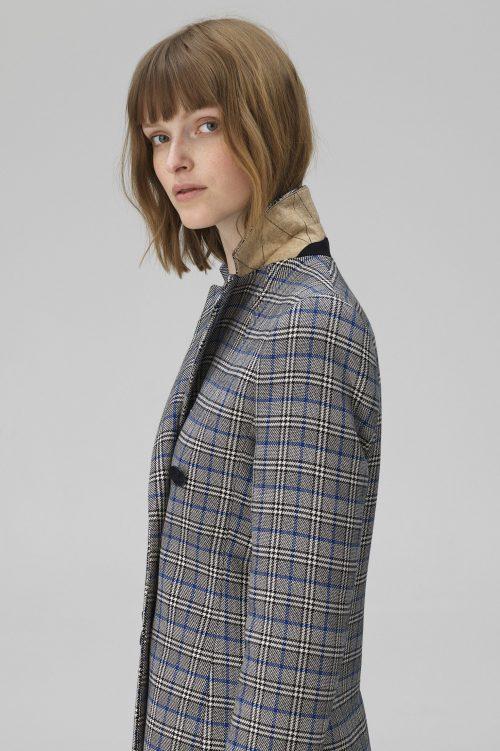 Gråblårutet blazer By Malene Birger - ziv q65205001