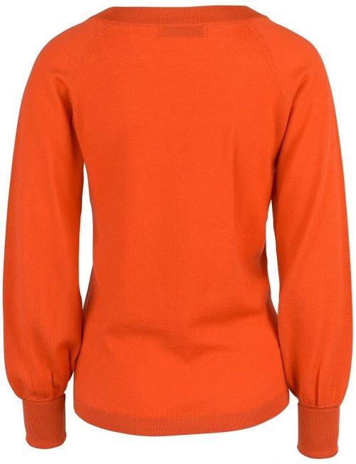 Korallrød 'base v-neck' Cathrine Hammel - 107.118 base v-neck