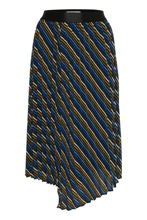 Cognacblåstripet skjørt Gestuz - riba skirt