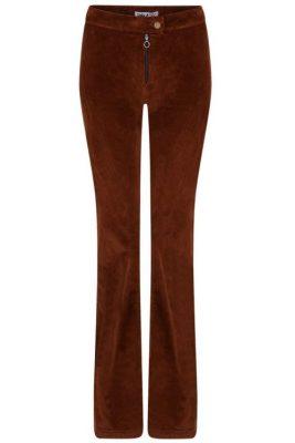 Cognacbrun eller sort medium bred cord viddebukse med glidelås Lois Jeans - rawide 2261 brightcord one 5621