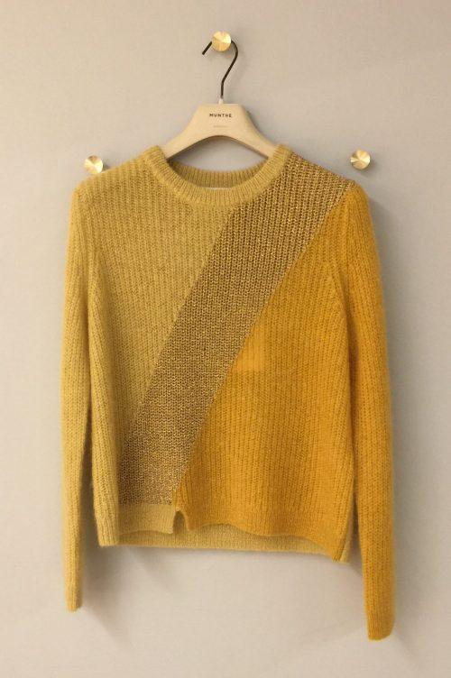 Gul genser med lurex Munthe - voyage