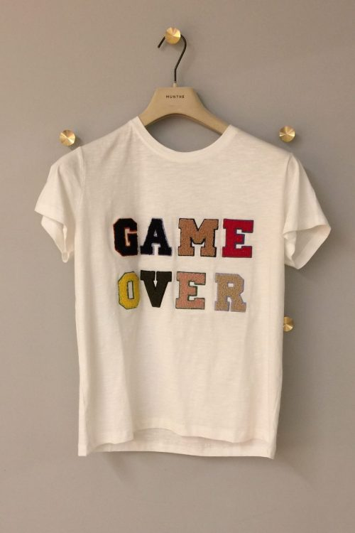 'Game over' hvit t-shirt Munthe - value