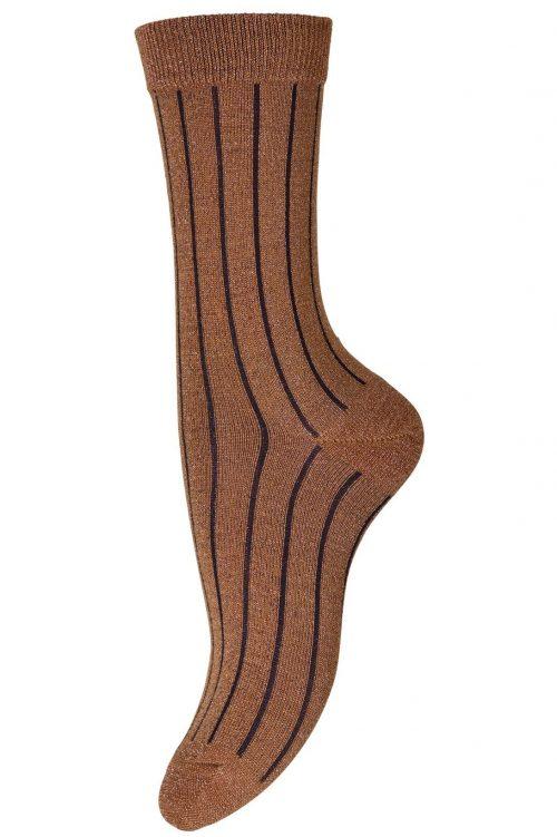 Honning med sort stripe ankelsokk MP Denmark - Hailey 79561-743