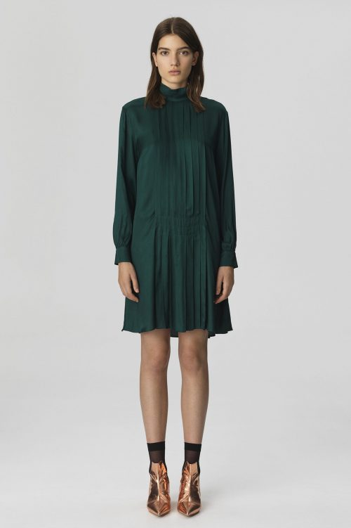 Grønn viskose kjole By malene Birger - JULIXAS-DRESS-Q65717001_4Y3