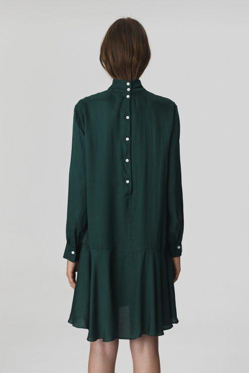 Grønn viskose kjole By malene Birger - JULIXAS-DRESS-Q65717001_4Y3