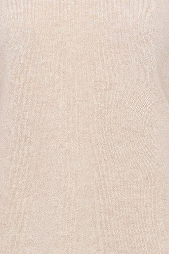 Fargeprøve beige cashmere pologenser med pufferm Dear Dharma - bella