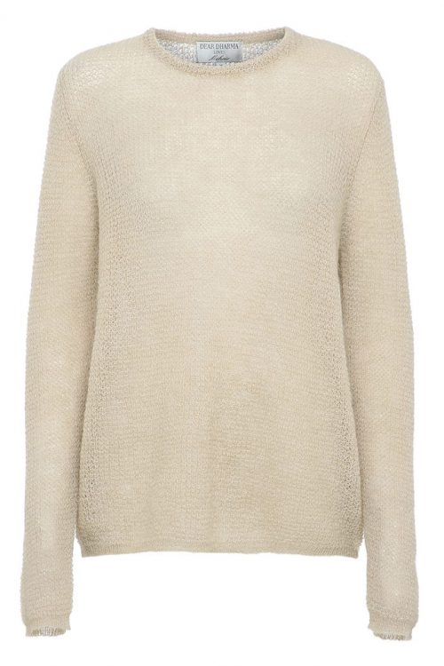 Sort eller beige mohairmix genser Dear Dharma - new maddy