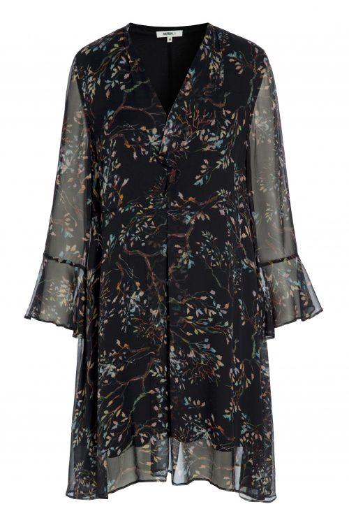 Blueblack mønstret kjole Katrin Uri - 639 authum night short dress