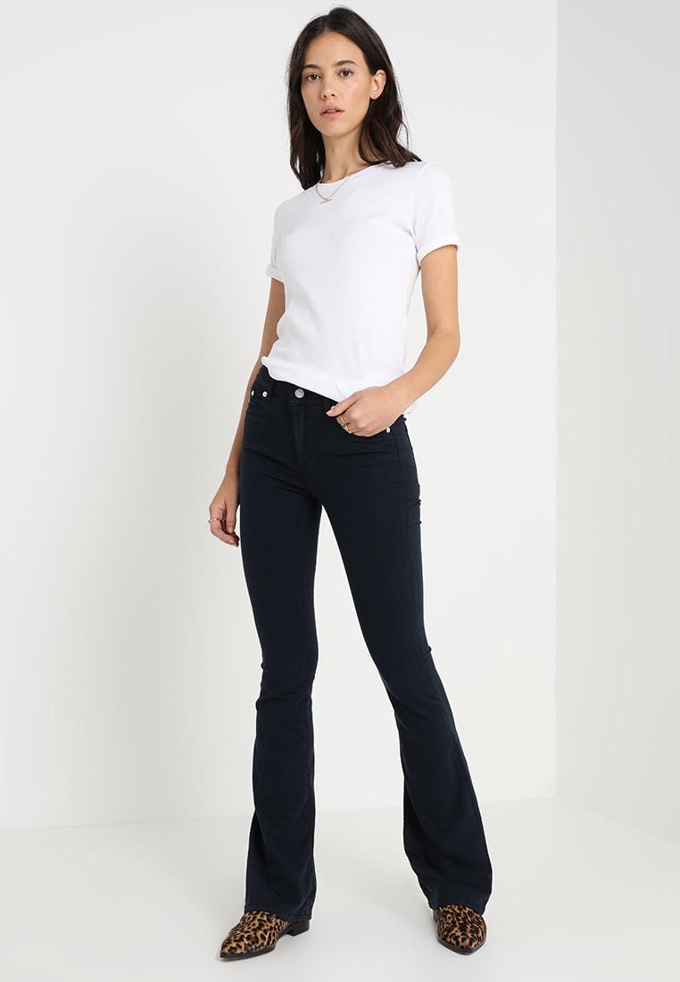 Navy viskose 'Raval' flare bukse Lois Jeans