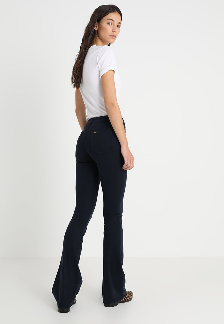 Navy viskose 'Raval' flare bukse Lois Jeans - Raval lea