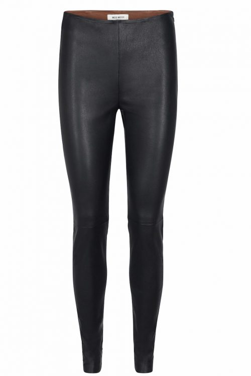 Sort 'Lucille' stretch skinntights Mos Mosh - 124220 lucille stretch leather leggings