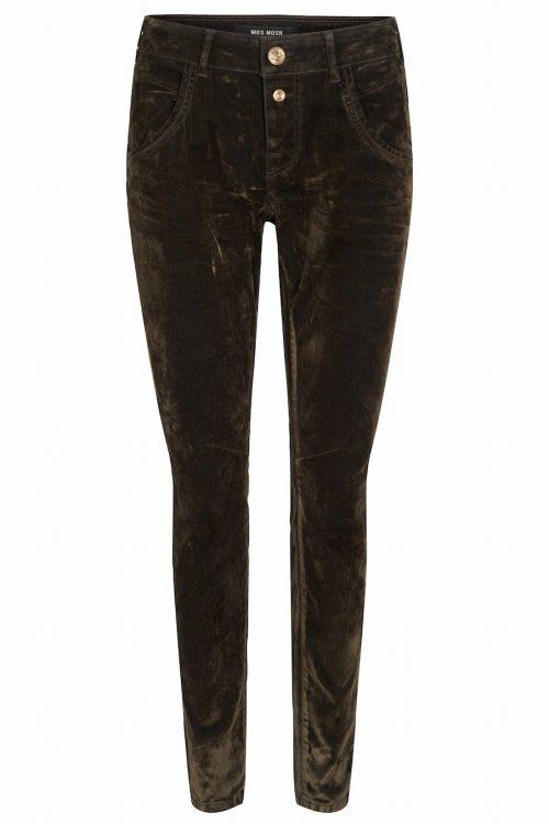 Armybrun 'Jamie Velvet' denimvelour bukse Mos Mosh - 124560 jamie velvet