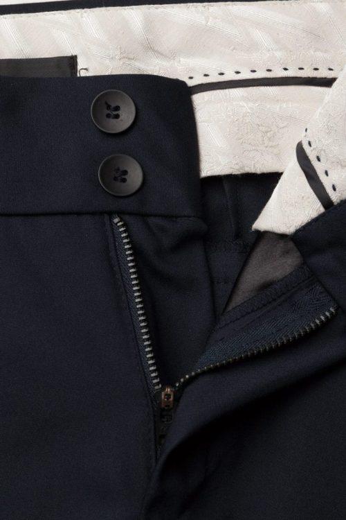 Sort dressbukse med stretchfelt ved ankel Mos Mosh - 112620 blake night pants