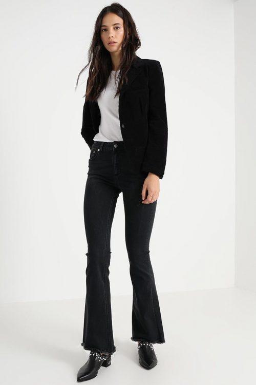 Rocka vasket flare jeans med råkant Lois Jeans - raval-edge 2230 killian black 5543 L32