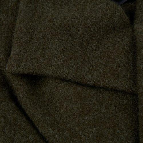 Mosegrønn ullkåpe med belte Stenstrøms - 455002-6158