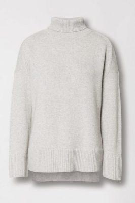Oatmeal melange, light grey eller sort YAK oversized pologenser Cathrine Hammel - 1004 short wide turtle neck