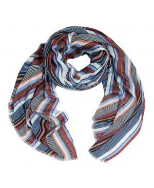 Kanelblå stripet rektangulært skjerf Dea Kudibal - hazel basset blue