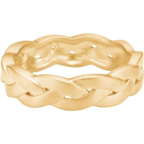 Flettet 'Braided' ring, gullforgylt sølv Enamel - R34GM Ring, braided