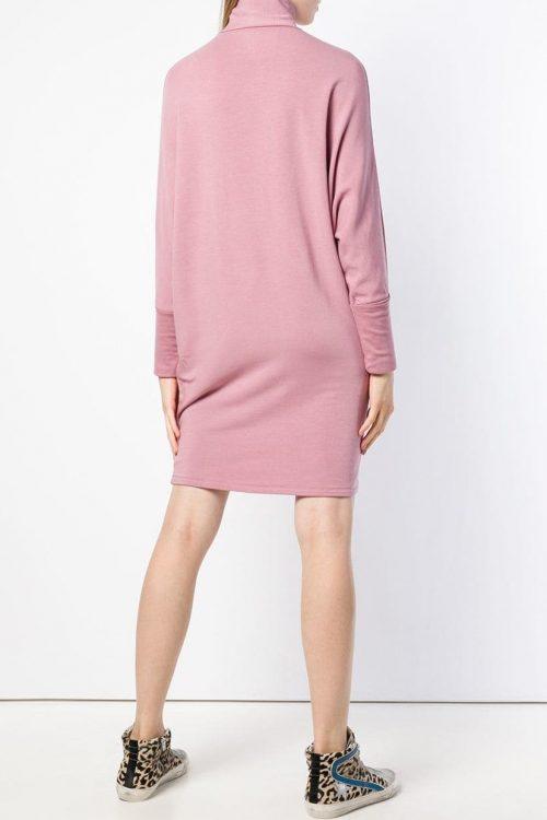 Sort (ikke rosa) oversized fleece jersey kjole Majestic Filatures - J004 fro 003