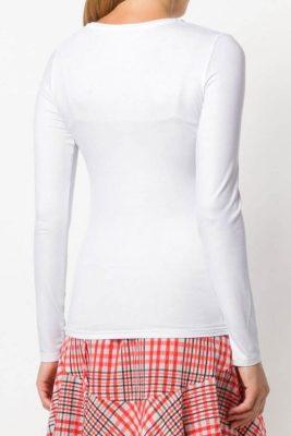 Hvit eller sort skimret long sleeve topp Majestic Filatures - J014 fts 008