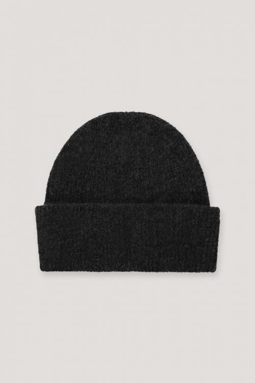 Gråblå, ecru eller sort mohairmix lue Samsøe Samsøe - 7355 nor hat