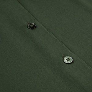 Grønn blank silkestretch skjorte Stenstrøms - 265010-2819
