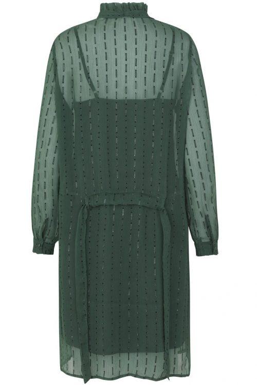 Grønn kjole med knyting i sidene og lommer Munthe - Net
