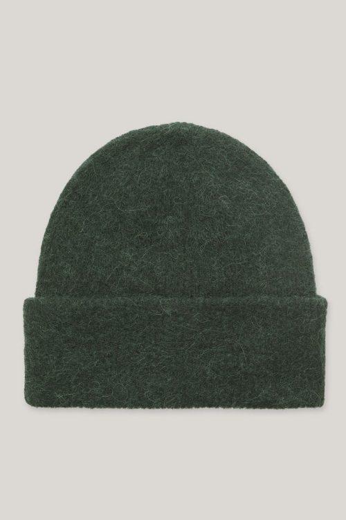 Grønn alpakkamix lue Samsøe Samsøe - nor hat
