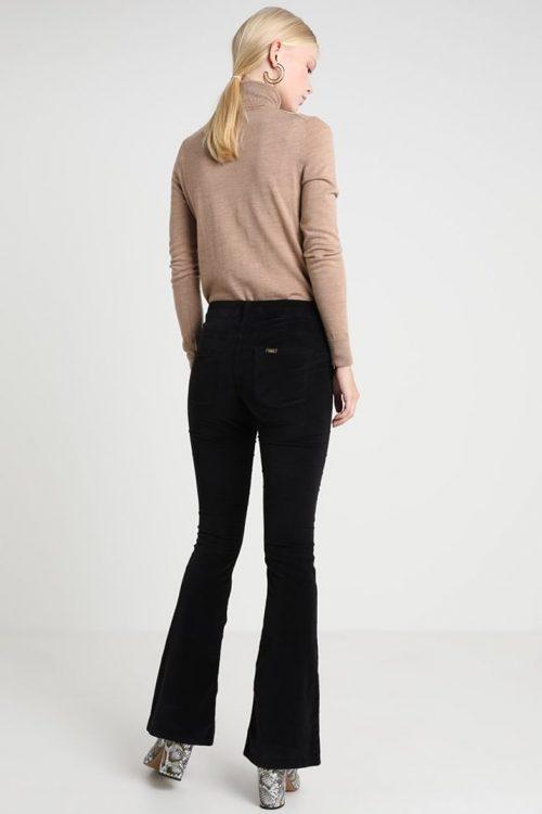 Sort eller kanel velour flare bukse Lois Jeans - raval 207 velvet smooth 5560