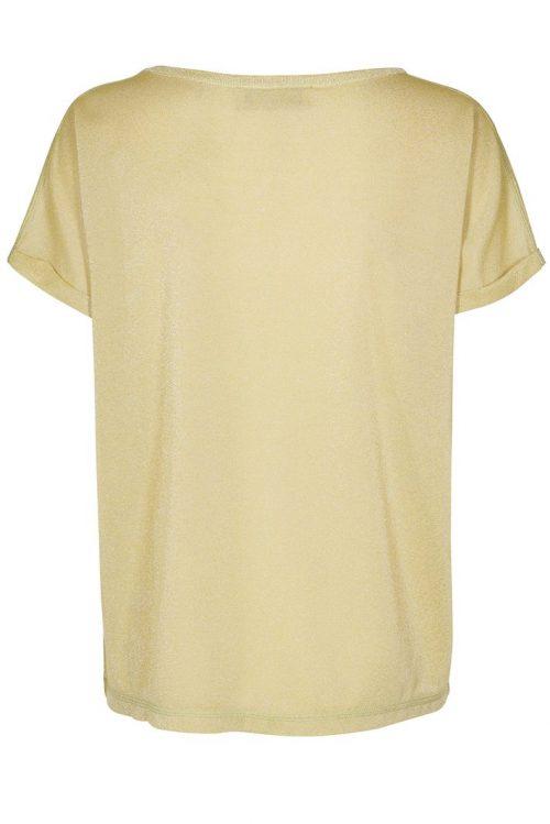Lime eller cashew cognac metallic t-shirt Mos Mosh - 121500 Kay tee