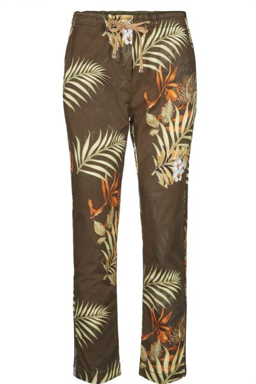 Army flower myk sporty bukse med knyting Mos Mosh - 127930 patton printed pant