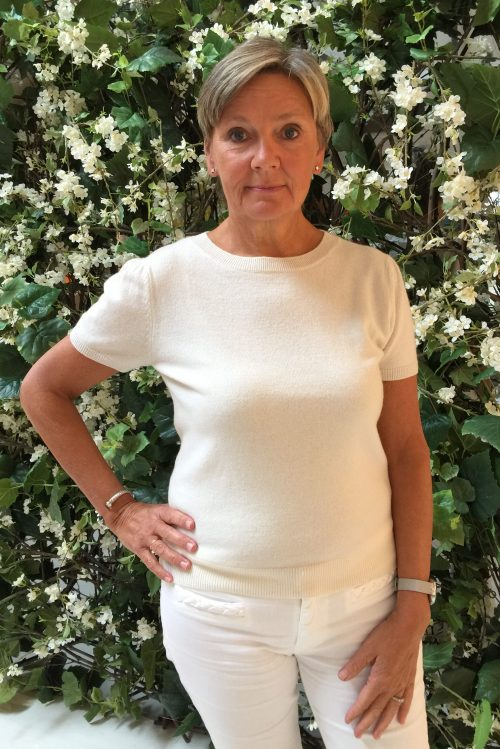 Offwhite cashmere genser topp med skulderpuff Dear Dharma - anne
