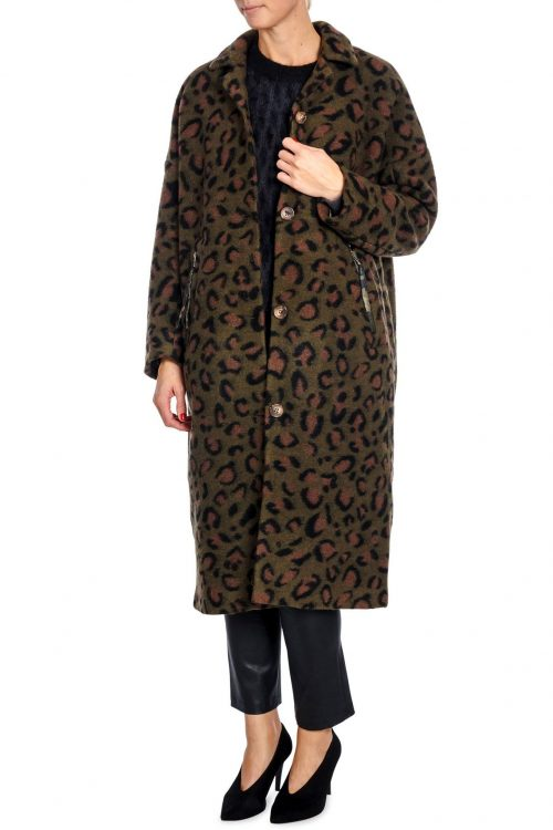 Grønn leopard frakk Munthe - visitor