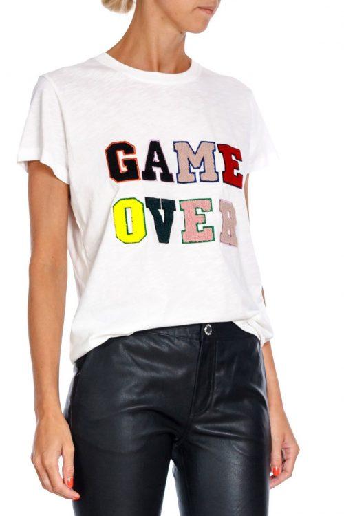 'Game over' hvit t-shirt Munthe - value