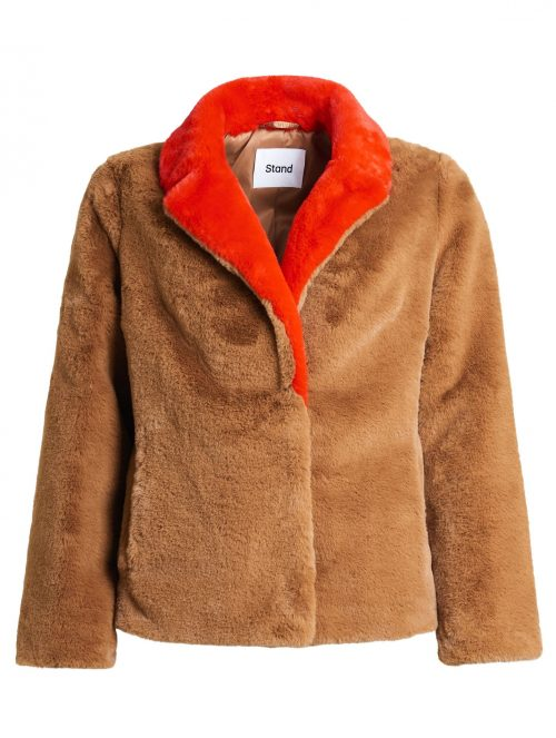 Kanel med rødt slag jakke Stand - mariska jacket