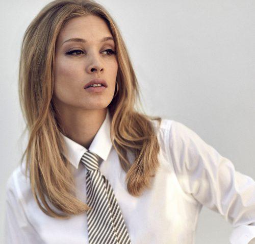 Dus rosa eller hvit eksklusiv jersey skjorte med silkeaktig finish Stenstrøms - 445001 6517