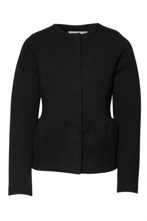 Rålekker sort neopren design ytterjakke Cathrine Hammel - 1230 peplum jacket