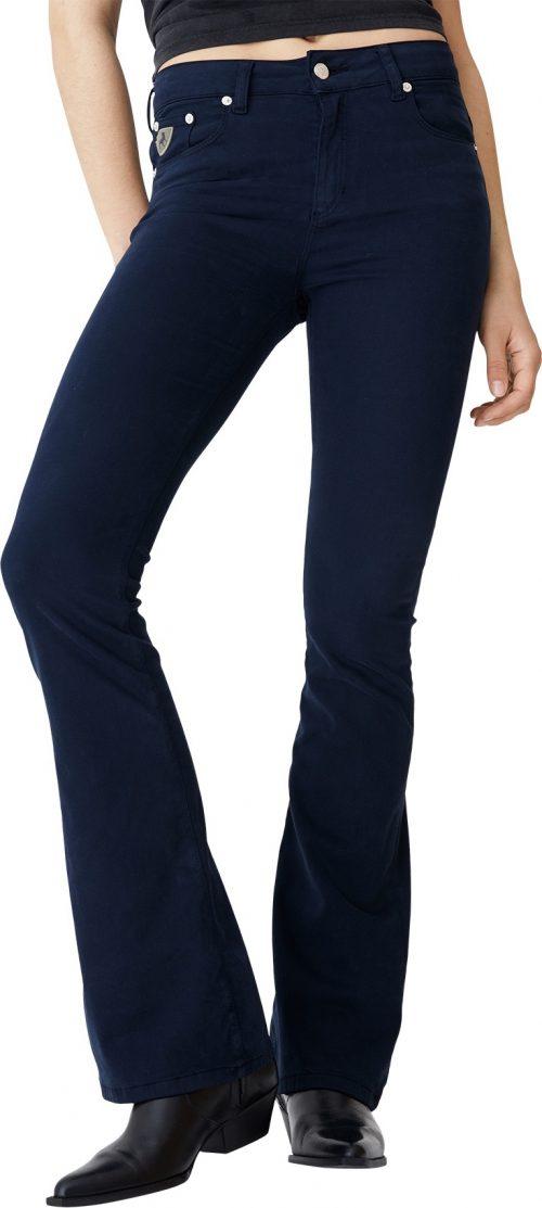 Blå 'Raval' flare viskose bukse Lois Jeans - raval lea lush L32 / L34