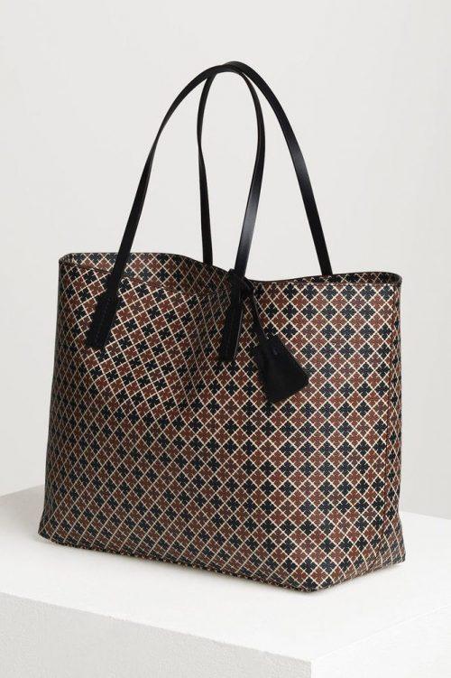 Brunsortmønstret veske By Malene Birger - Abigail bag Q65508068 48 x 28 x 12.5cm