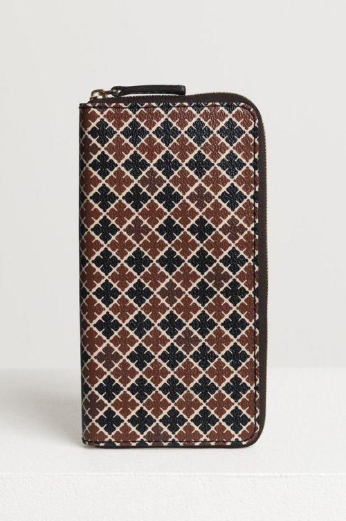 Brunsortmønstret lommebok By Malene Birger - Continental purse Q65508063 19 x 10 x 2cm