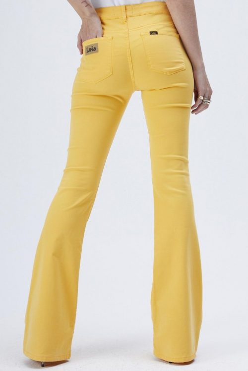 Solgul viskose 'Raval' flare bukse Lois Jeans - raval - lea luch 5765 L32 eller L34